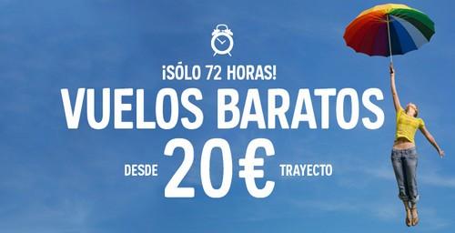 vuelos desde 20 euros