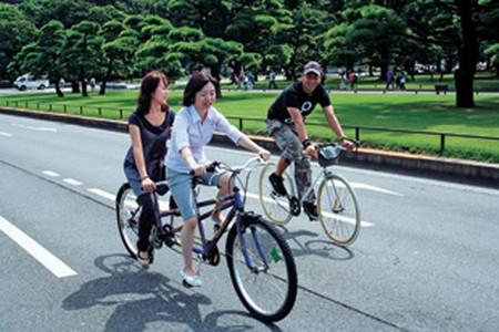 bicicletas gratis en Palacio Imperial Tokio