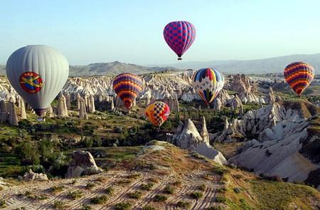 globos sobre Capadocia