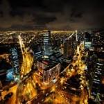Foto nocturna de Bogota Colombia