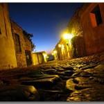 Calles de Colonia del Sacramento en Uruguay